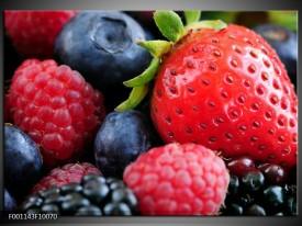 Glas schilderij Fruit | Rood, Blauw