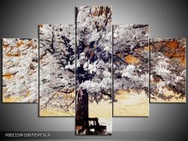 OP VOORRAAD Canvas art schilderij  Boom | 100x70cm 5pcs| F001159CA