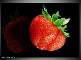 Glas schilderij Fruit | Rood, Zwart