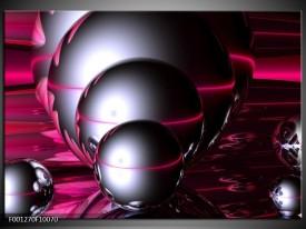 Glas schilderij Abstract   Zilver, Paars, Zwart