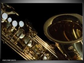 Foto canvas schilderij Muziek | Goud, Zwart