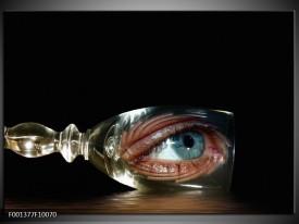 Glas schilderij Ogen   Zwart, Zilver
