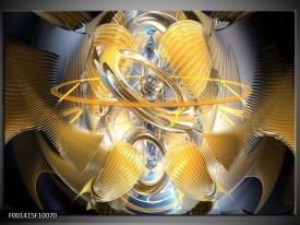 Foto canvas schilderij Abstract | Geel, Zilver, Grijs