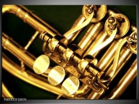 Foto canvas schilderij Instrument | Geel, Goud, Zwart