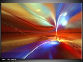 Glas schilderij Abstract | Paars, Geel, Rood