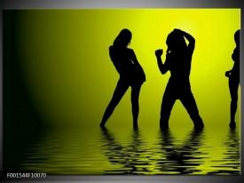 Foto canvas schilderij Dansen   Groen, Zwart
