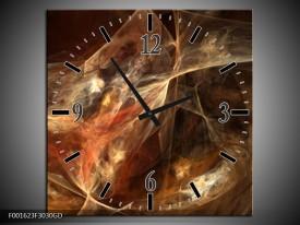 Wandklok op Glas Dansen | Kleur: Rood, Zwart | F001623CGD
