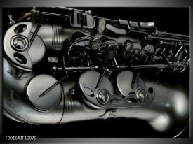 Foto canvas schilderij Instrument | Zwart, Grijs