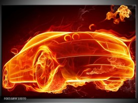 Foto canvas schilderij Auto | Goud, Rood, Geel