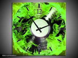 Wandklok op Glas Muziek | Kleur: Groen, Zwart | F001727CGD