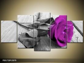 OP VOORRAAD Foto canvas schilderij Roos | 150x70CM | F001728