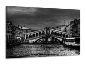 Glas schilderij Venetie | Grijs, Zwart, Wit | 140x90cm 1Luik