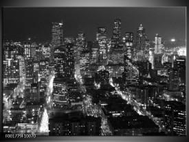 Glas schilderij New York | Zwart, Grijs