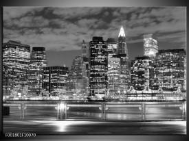 Foto canvas schilderij New York | Grijs, Zwart, Wit