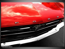 Glas schilderij Ford | Rood, Zwart
