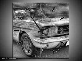 Wandklok op Glas Mustang | Kleur: Zwart, Wit, Grijs | F001827CGD