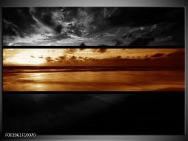 Glas schilderij Zee   Sepia, Bruin