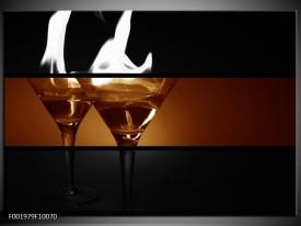Glas schilderij Glazen | Sepia, Bruin