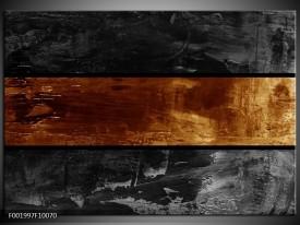 Glas schilderij Abstract   Sepia, Bruin
