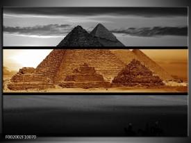 Glas schilderij Piramide | Sepia, Bruin