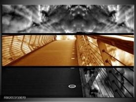 Glas schilderij Brug | Sepia, Bruin