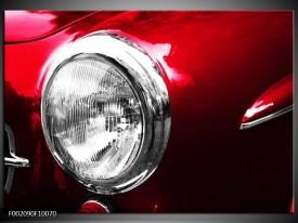 Glas schilderij Auto | Rood, Wit, Zilver