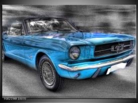 Glas schilderij Mustang   Zwart, Grijs, Blauw