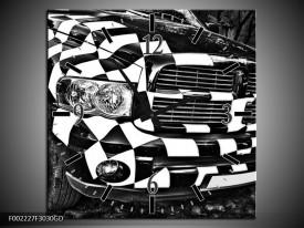 Wandklok op Glas Auto | Kleur: Zwart, Wit, Grijs | F002227CGD