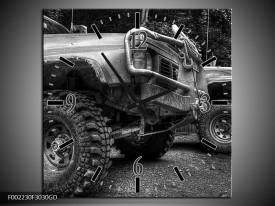Wandklok op Glas Auto | Kleur: Zwart, Wit, Grijs | F002230CGD