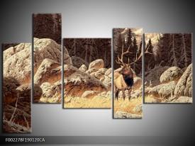 Canvas ART schilderij Natuur | Bruin, Wit | 190x120cm 5Luik