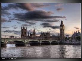 Glas schilderij Engeland | Grijs, Wit