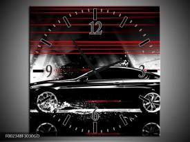 Wandklok op Glas Auto | Kleur: Zwart, Rood, Grijs | F002348CGD
