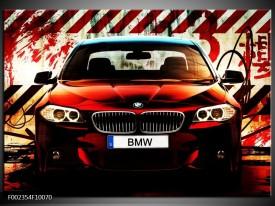 Foto canvas schilderij BMW | Zwart, Rood, Wit