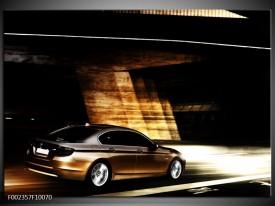 Foto canvas schilderij BMW | Zwart, Goud, Wit