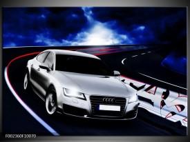 Foto canvas schilderij Audi | Grijs, Blauw, Rood