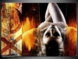 Glas schilderij Lichaam | Geel, Oranje, Zwart