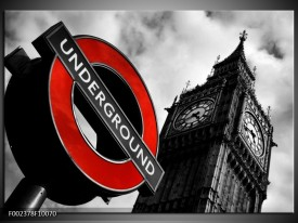 Glas schilderij Londen   Zwart, Rood, Wit