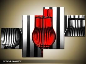OP VOORRAAD Foto canvas schilderij Glas | 100x60cm | F002434