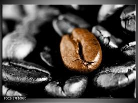 Glas schilderij Koffie | Bruin, Zwart, Grijs