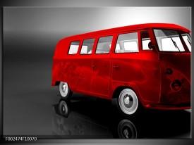 Glas schilderij Auto   Rood, Zwart, Grijs