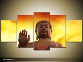 OP VOORRAAD Foto canvas schilderij Boeddha | 150x70cm | F002647