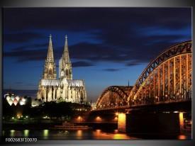 Foto canvas schilderij Steden | Blauw, Geel, Wit