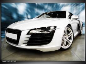 Foto canvas schilderij Audi | Zwart, Wit, Blauw
