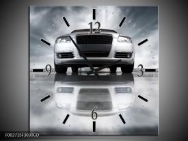 Wandklok op Glas Audi | Kleur: Wit, Grijs, Zwart | F002715CGD