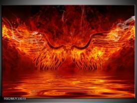 Foto canvas schilderij Engel | Oranje, Bruin, Zwart