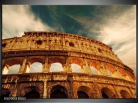 Glas schilderij Rome   Bruin, Wit, Blauw