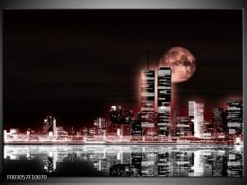 Foto canvas schilderij Nacht | Rood, Zwart, Grijs