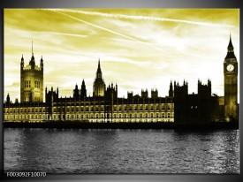 Foto canvas schilderij Londen | Groen, Goud, Zwart