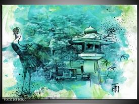 Foto canvas schilderij Natuur | Groen, Blauw, Wit