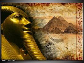 Foto canvas schilderij Egypte   Bruin, Goud, Grijs